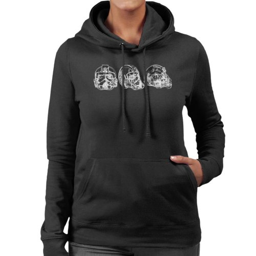 Original Stormtrooper Imperial TIE Pilot Helmet Abstract Women's Hooded Sweatshirt