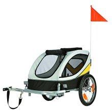 Trixie Dog Bicycle Trailer, Medium, Grey - Trailer Medium -  trixie dog bicycle trailer medium grey