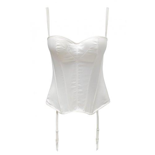 Masquerade Womens Tiffany Basque size 32DD in Ivory