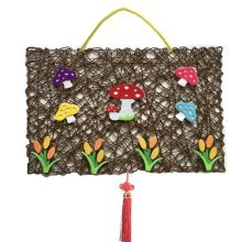 Mushroom Pattern DIY Hanging Wall Nursery Décor Product, 44x30 cm