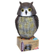 Head Turning Owl Garden Defender - Action Wind Defenders Decoy Scarer Bird -  owl action wind defenders decoy scarer head bird