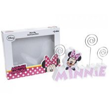 Pink Disney Minnie Mouse Wooden Photo Holder - Frame Kids Girls Gift Officially -  pink minnie mouse wooden photo holder frame kids girls gift