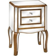 Venetian Mirrored 2 Drawer Side Table - Add Style Your Home -  venetian mirrored 2 drawer side table add style your home
