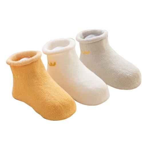 3 Pairs Baby Winter Socks Thick Terry Socks Warm Cotton Socks [D]