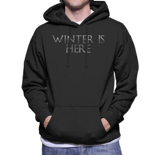 Game Of Thrones Winter Is Here Text Men's Hooded Sweatshirt