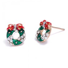 Christmas Stud Earrings Wreath
