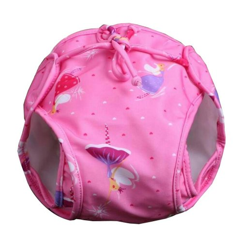 [Pink] Reuseable Baby Swim Diaper Lovely Infant Swim Nappy Swimwear