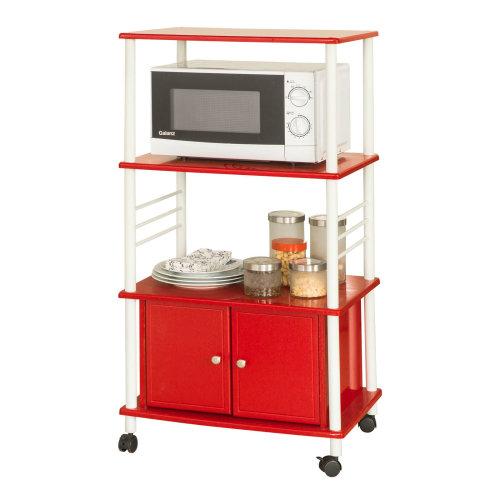 SoBuy® FRG12-R, Kitchen Storage Trolley Kitchen Cabinet Microwave Shelf