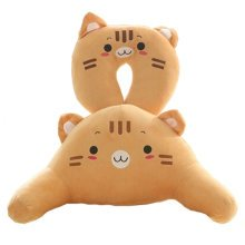 A Set Of U Shaped&Back Cushion Healthy Neck Pillow Travel Neck Pillow,Tiger