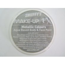Smiffys Make-up Fx, Metallic Silver, Aqua Face And Body Paint, 16ml, Water -  face paint smiffys body fx makeup silver fancy dress metallic aqua 16ml