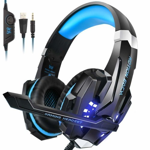 Gaming Headset PS4 xbox one,PC Over-Ear Gaming Headphones with Mic LED Light