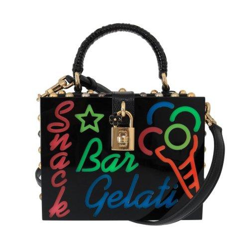 ca8a58fd4c Dolce & Gabbana Black Plexi LED Light Leather Bag on OnBuy