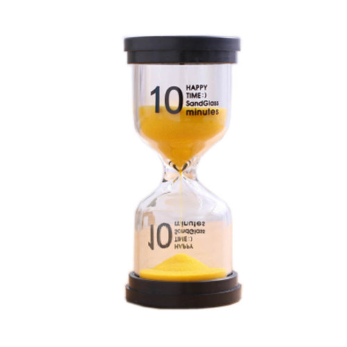 Colorful Sand Timer Hourglass Sandglass Small Ornaments Dropping Ueasily, 10 minutes +Yellow