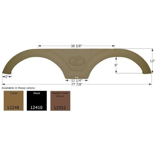 Icon 12248 Tandem Fender Skirt Fs2248, Taupe