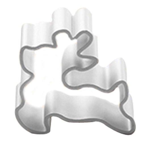 3 Pcs Deer Pattern Aluminum DIY Baking Mold Cookies Cut