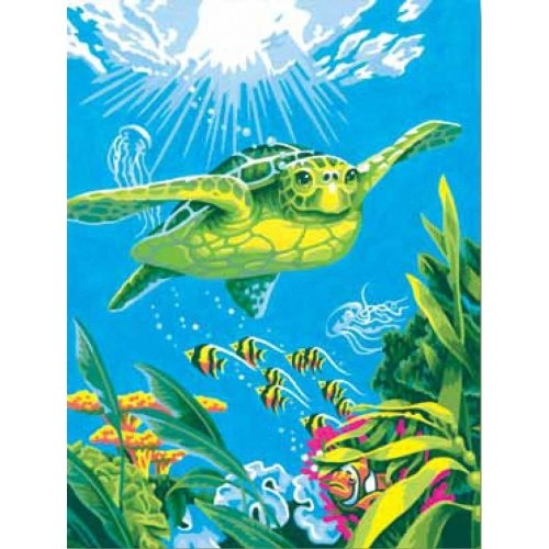 "Dpw91471 - Paintsworks Learn to Paint 9"" X 12""- Swimming Turtle"
