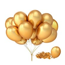 Fecedy 100pcs/pack Gold Shiny Balloons for party Decoration 12 inches
