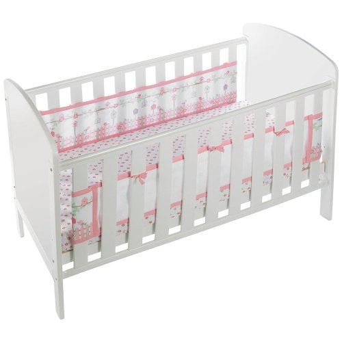 BreathableBaby English Garden Cot Liner | 2-Sided Cot Bumper