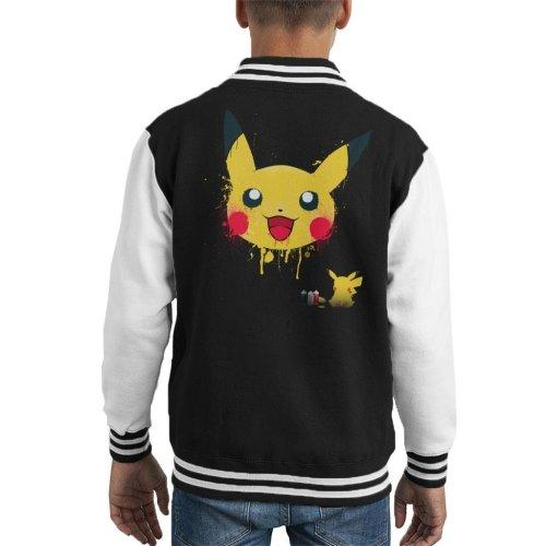 Pokemon Pika Paint Kid's Varsity Jacket