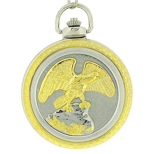 Jakob Strauss Eagle Jumbo Size Pocket Watch on 12 Inch Chain Jast28