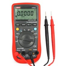 UNI-T UT61E AC/DC Modern Digital Auto Ranging Multimeters Multitester With Capacitance Frequency Measurement With RS232 Computer Connection(Red&Black)