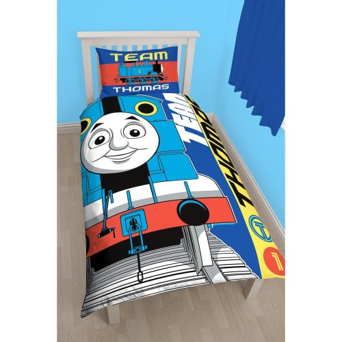 Thomas the Engine 'Team' Single Duvet Set - Large Print Design