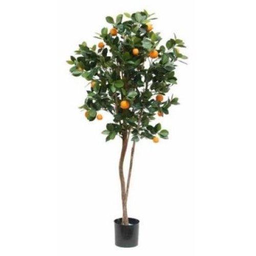 Artificial Silk Orange Fruit Tree - 150cm, Green