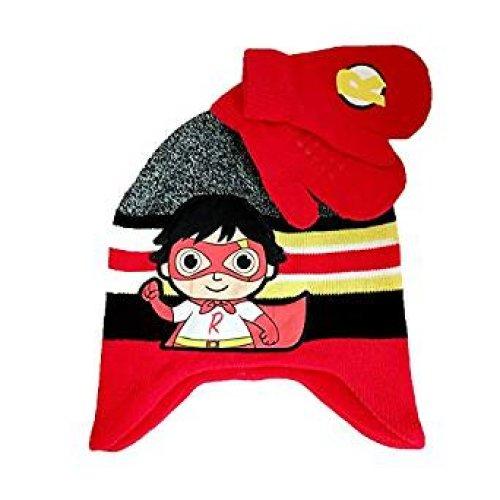 Beanie Cap - Ryan's World - Red w/Mitten Set Hat 203249
