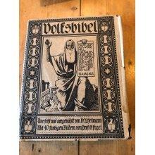 HUGE HEAVY 1912 Katholische Volksbibel übersetzt und ausgewählt von Dr. Heilmann