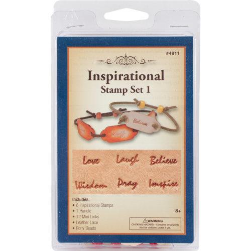 Leathercraft Kit-Inspirational Stamp Set #1