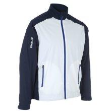 ProQuip Golf Mens Aquastorm PX1 Waterproof Rain Jacket Full Zip Navy/White Small