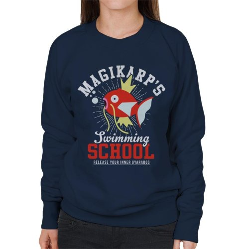 Magikarps Swimming School Pokemon Women's Sweatshirt