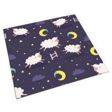 Square Cute Cartoon Children's Rugs, Good Night Running Cartoon Lambs