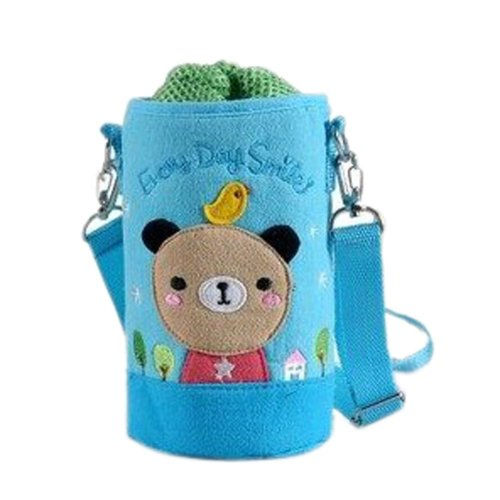 Lovely Kindergarten Funny Bear Bottle Messenger Bag (15*8.5CM)