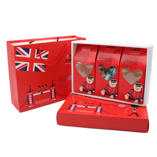 3PCS Cute Boxes WithHandle For Pack Candies,Nougat,OtherGift,in Party,Birthdays,and other Events,#D