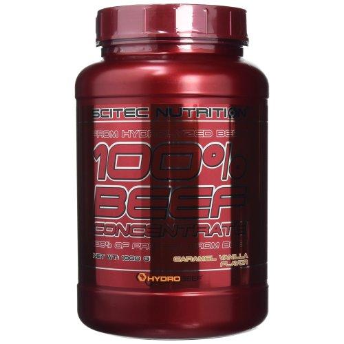 Scitec Nutrition 100% Beef Concentrate Protein Powder - 1000g, Caramel Vanilla