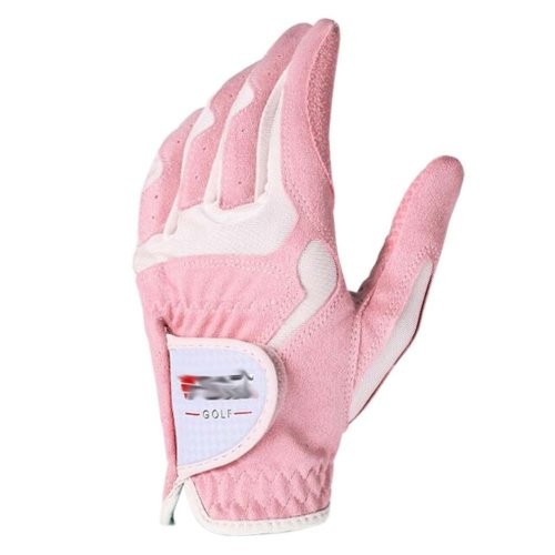 Classic Simple Design Women Golf Gloves Non-slip Sport Gloves(Pink&White) #20