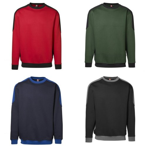 ID Mens Pro Wear Contrast Regular Fitting Sweatshirt