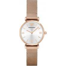 Emporio Armani AR1956 Watch Rose Gold Mesh Woman