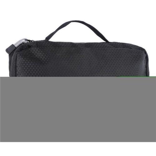 Suvelle T661BK Hanging Toiletry Bag Compact Travel Kit Organizer for Men & Women - Black