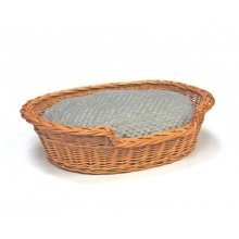 Extra Extra Large Willow Dog Cat Pet Wicker Basket Soft Cushion