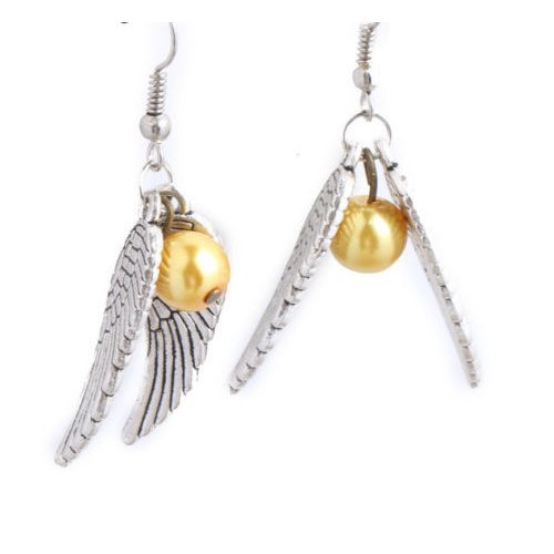 Golden Snitch Earrings - Harry Potter Quidditch Cosplay