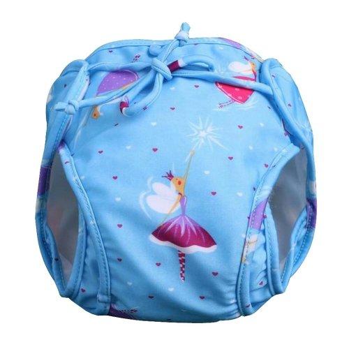 [Blue] Reuseable Baby Swim Diaper Lovely Infant Swim Nappy Swimwear