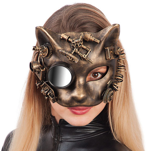 Carnival Toys 1694u0026nbsp;u0026ndash;u0026nbsp;ste&unk Cat Mask ...  sc 1 st  OnBuy & Carnival Toys 1694 u2013 steampunk Cat Mask Gold Hard Plastic With on OnBuy