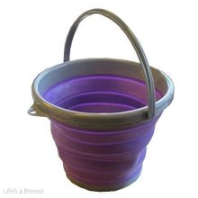 Summit 10l Litre Purple Folding Bucket Collapsible Water Carrier Silicone -  pop bucket purple camping summit 10l grey travel folding caravan