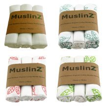 MuslinZ 3pk 70cm Bamboo/Organic Cotton Muslin Square