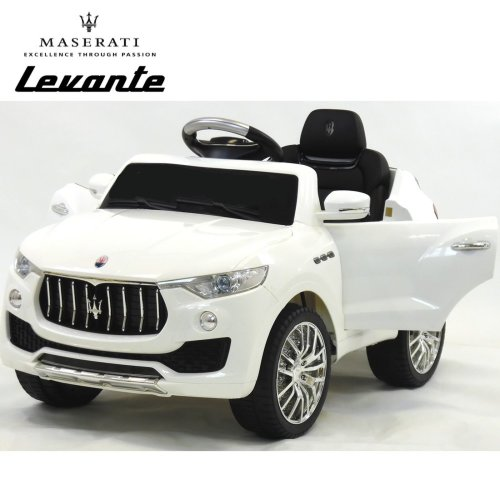 Licensed Maserati Levante 6v Electric Kids Ride on Car with RC - White