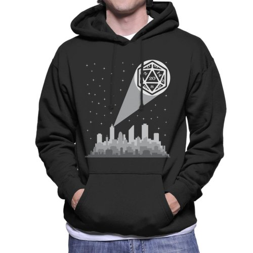 Dungeons And Dragons Bat Dice Men's Hooded Sweatshirt
