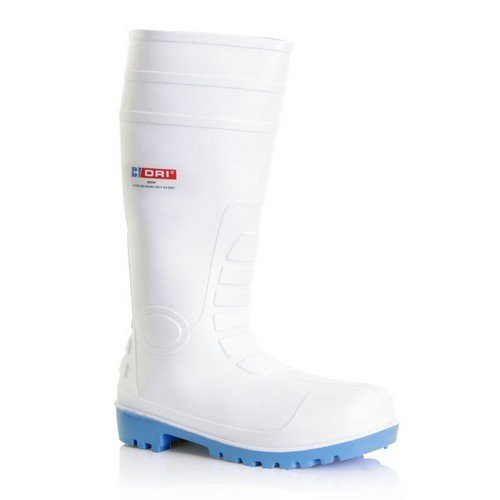 Dunlop BBSW03 PVC Safety White Wellington Boots Size 3