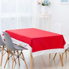 130x180cm Red Chirstmas Non-woven Fabric Table Cloth